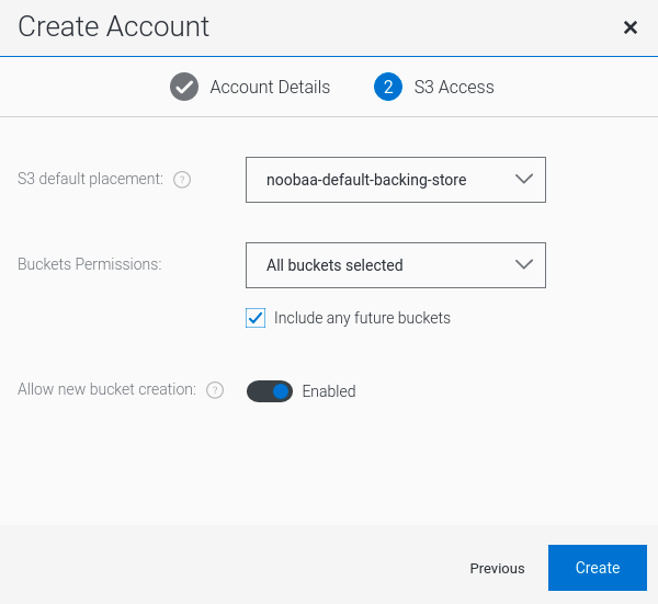 MCG create account s3 user2