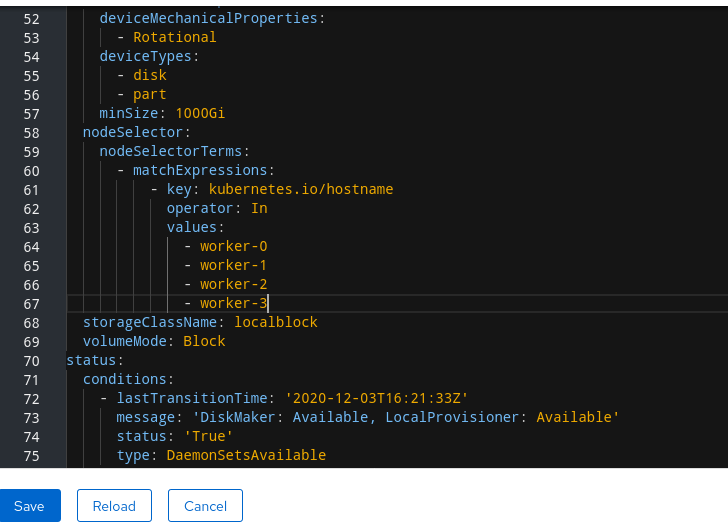 Screenshot of YAML showing the addition of new hostnames.