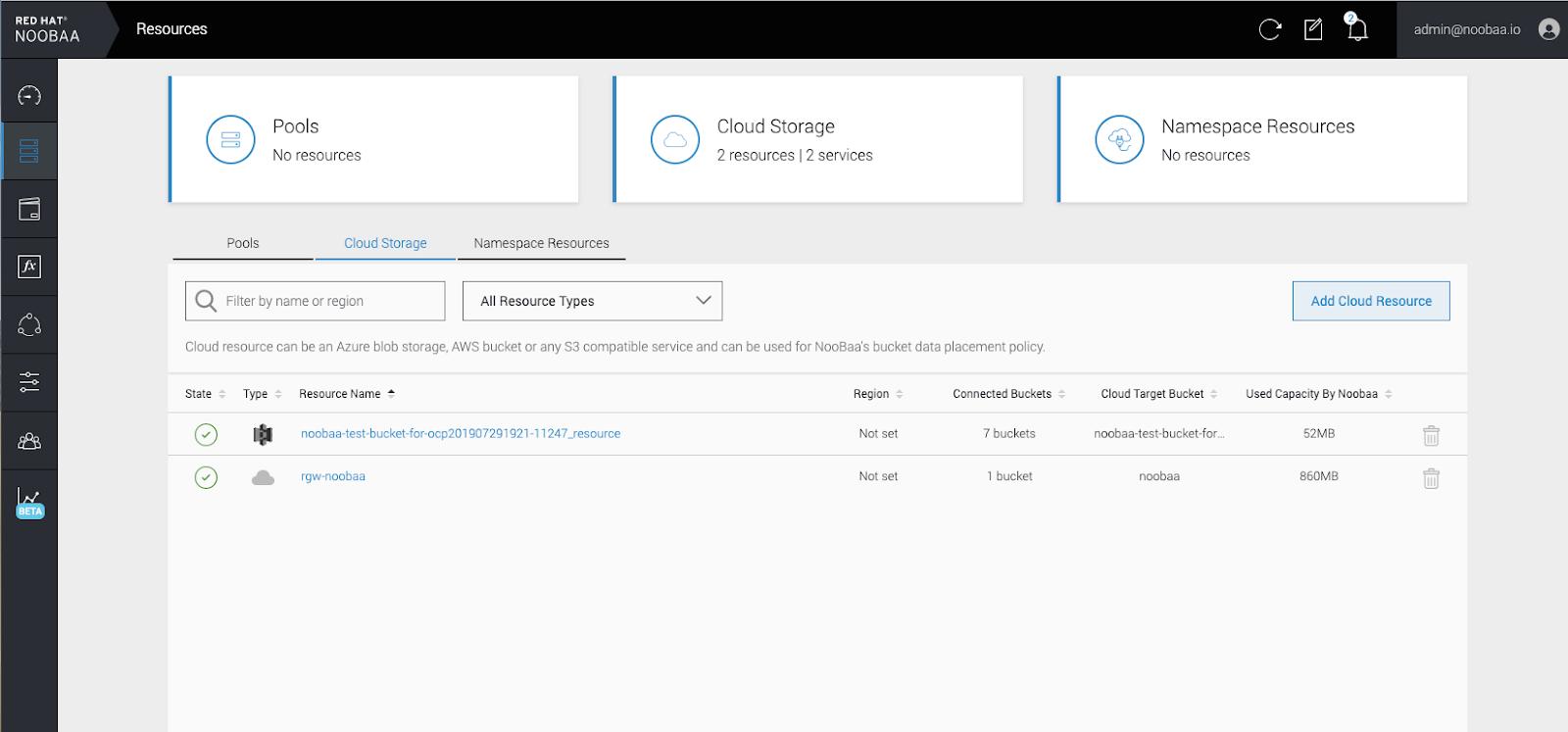 MCG add cloud resource