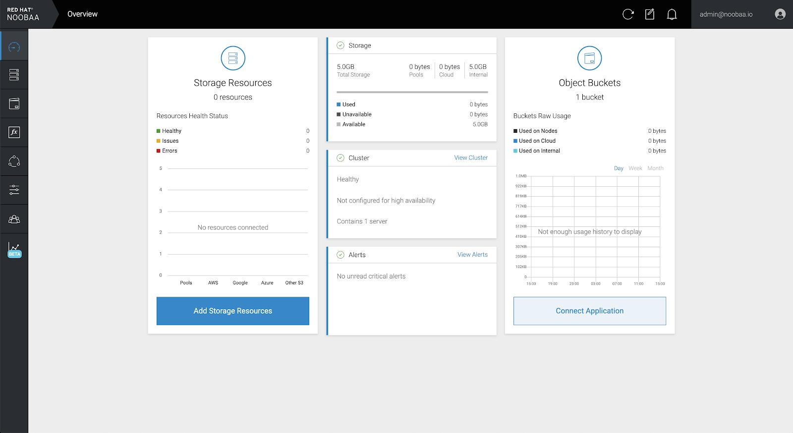 MCG add storage resources button