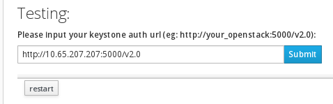 Keystone Authentication URL