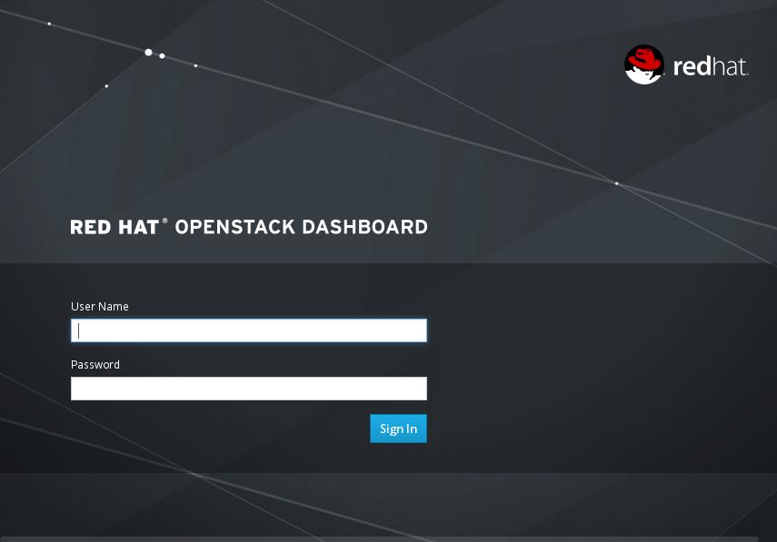 Dashboard Login Screen