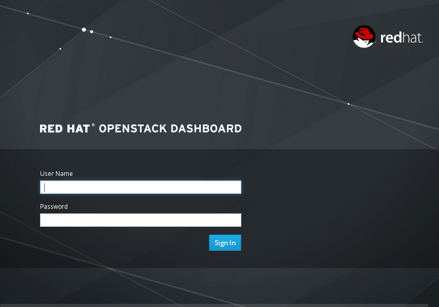 Dashboard Login Screen