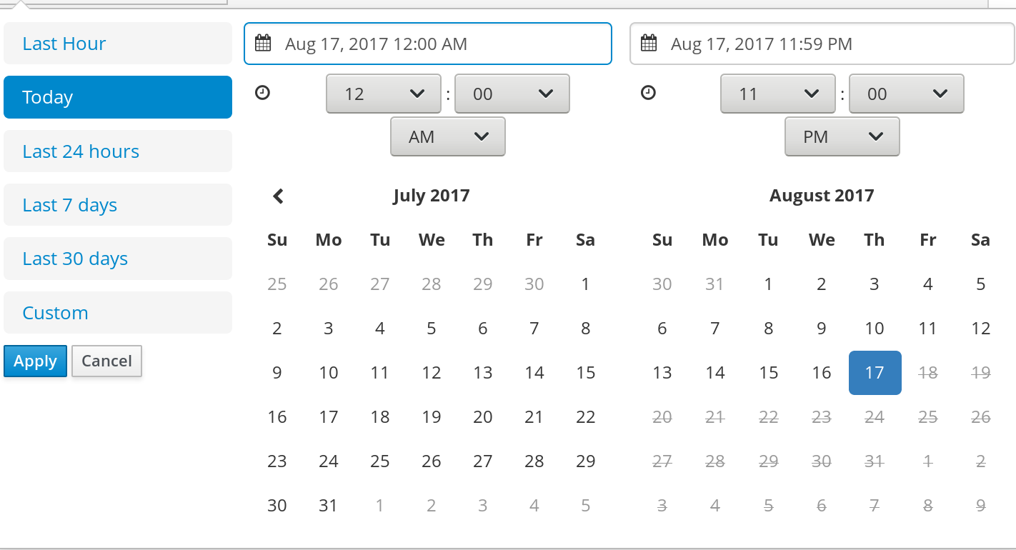Search by Date Range
