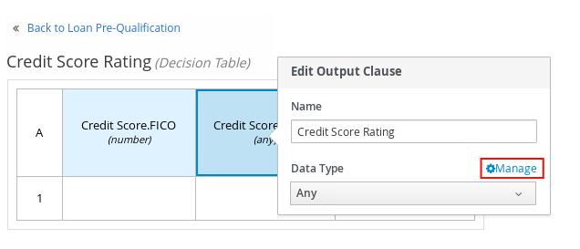 dmn manage data types