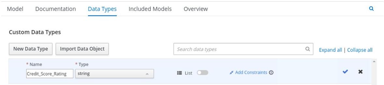 dmn custom data type add