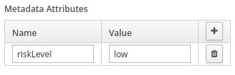 Image of custom metadata attribute and value