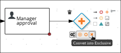 Creating a Data-based Exclusive (XOR) gateway
