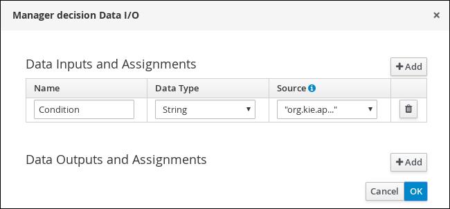 ManagerDecision I/O values