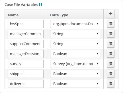 Case file variables