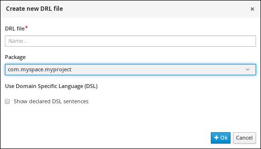 A screen shot of Create new pop-up dialog
