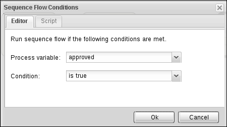 Sequence flow conditions