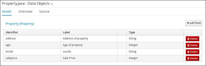 field data property