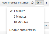 Features in the Manage Process Instances page
