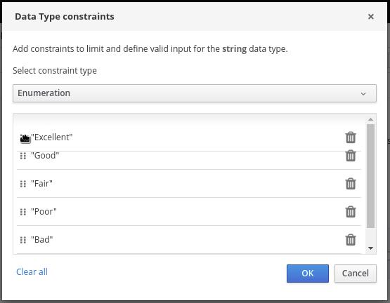 dmn custom data type constraints drag