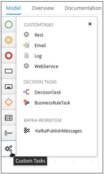 Custom tasks in process designer