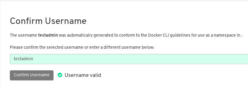 Confirm LDAP username for Red Hat Quay