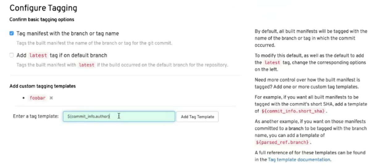 Set tagging with your own tags or using tag templates