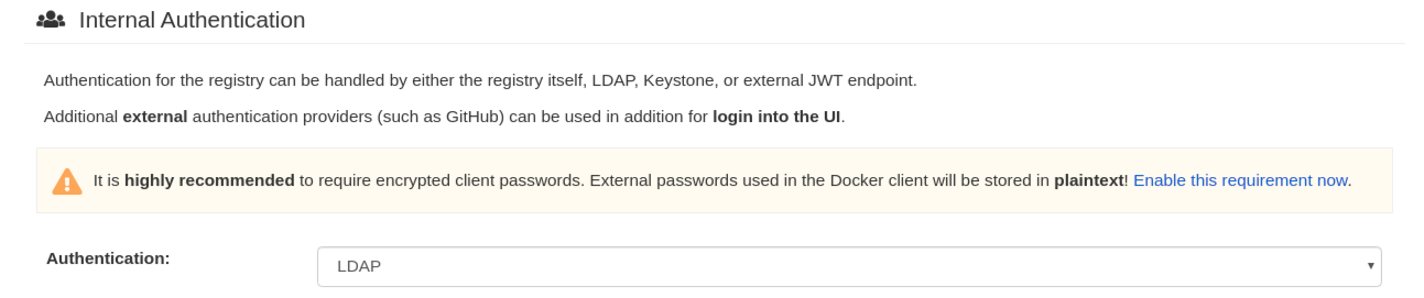 Fill in LDAP information