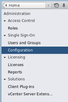Navigate to Single Sign-On Configuration