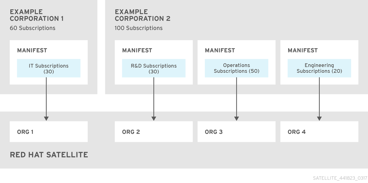 Satellite Server with Multiple Manifests