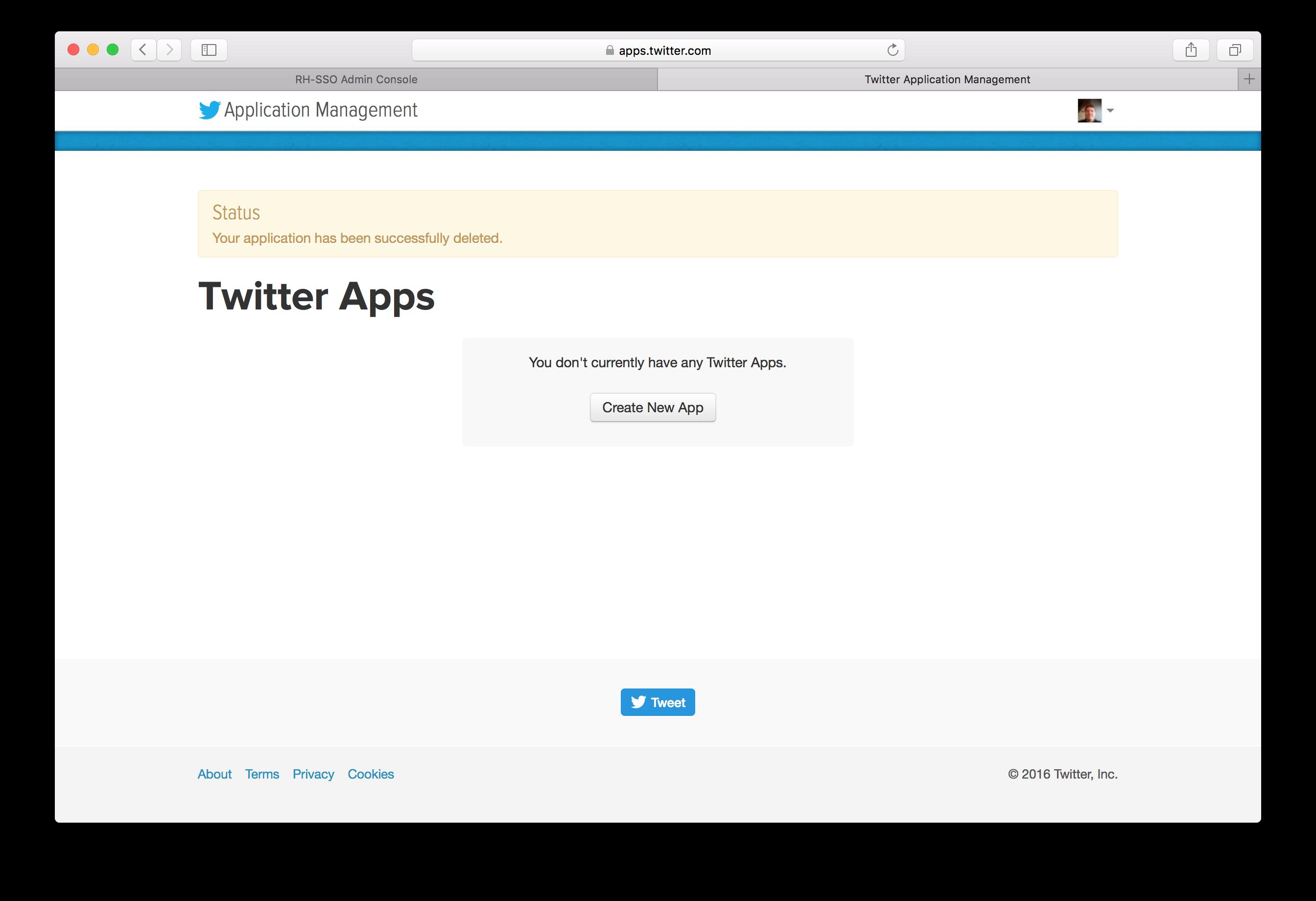 twitter app register
