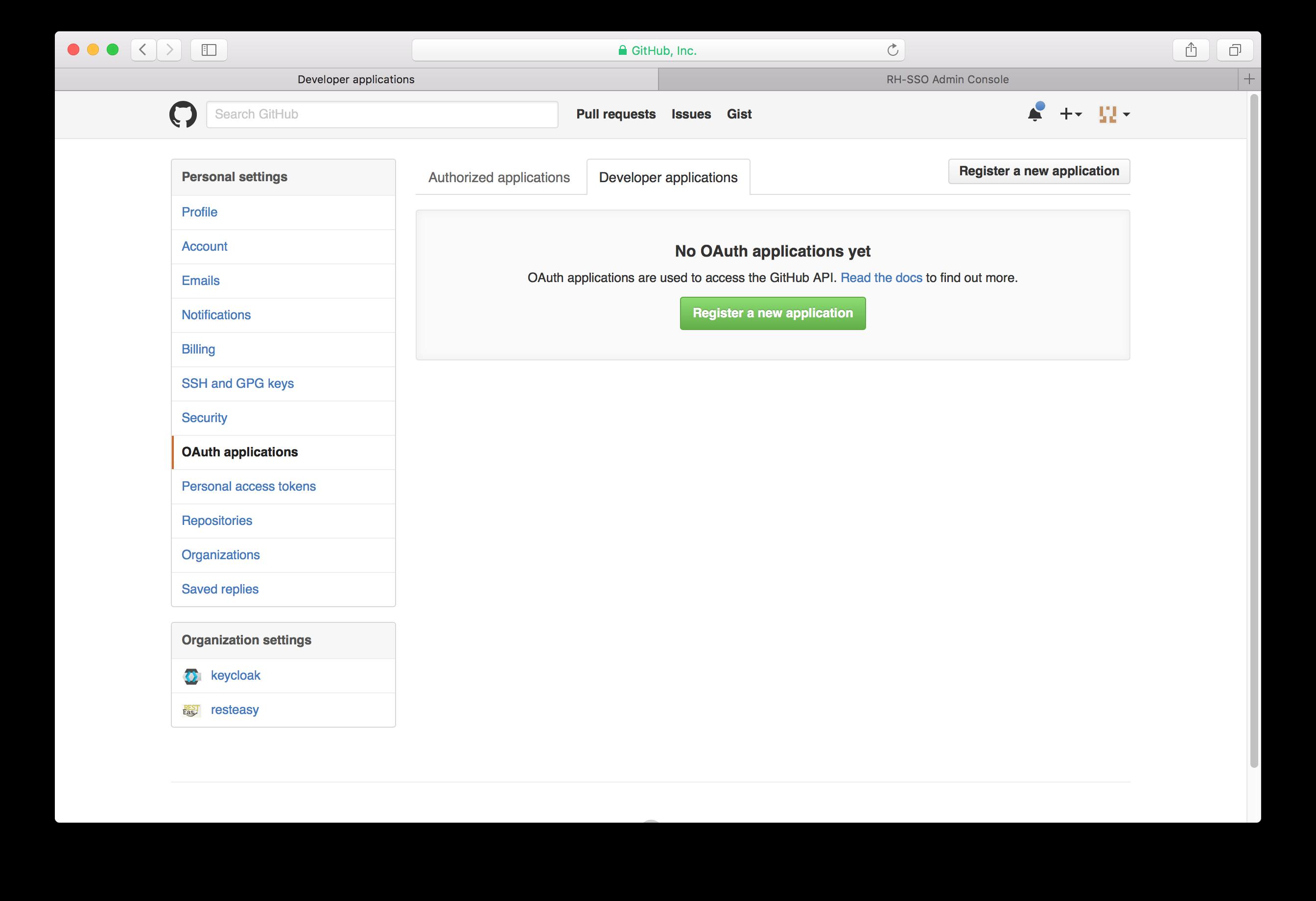 github developer applications