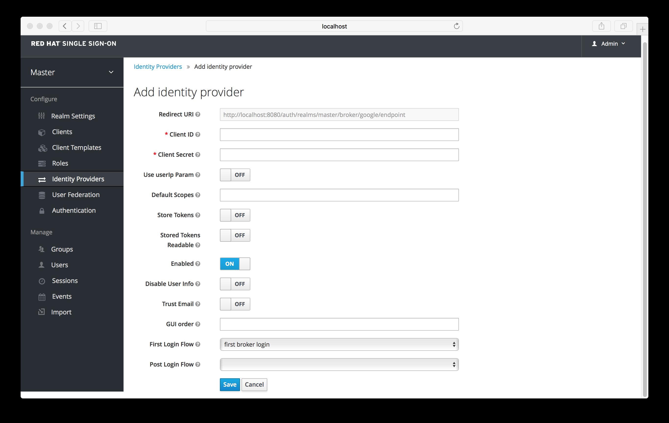 add identity provider