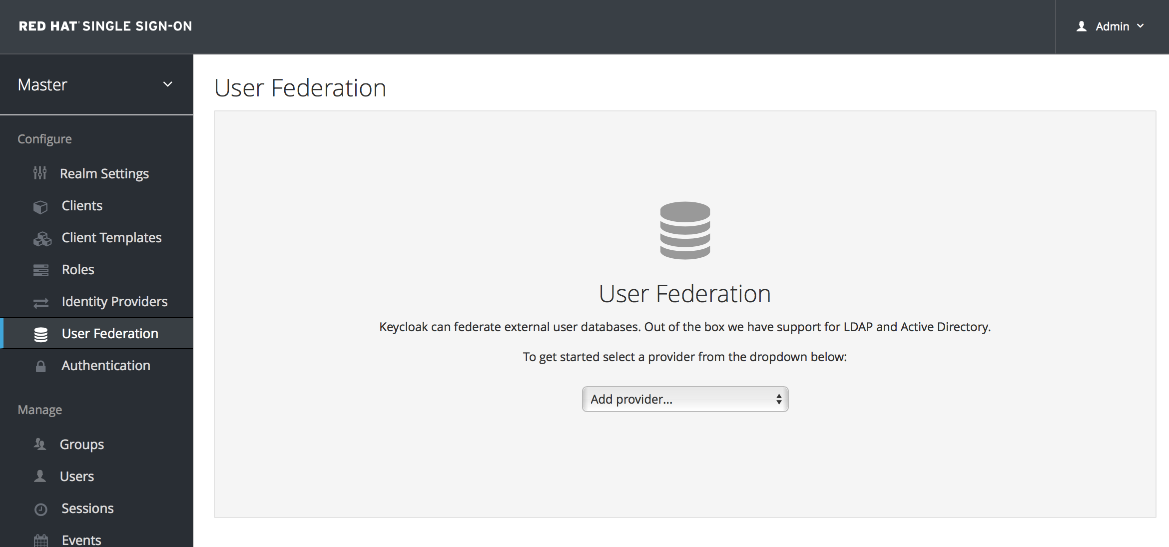Chapter 14  User Storage Federation - Red Hat Customer Portal