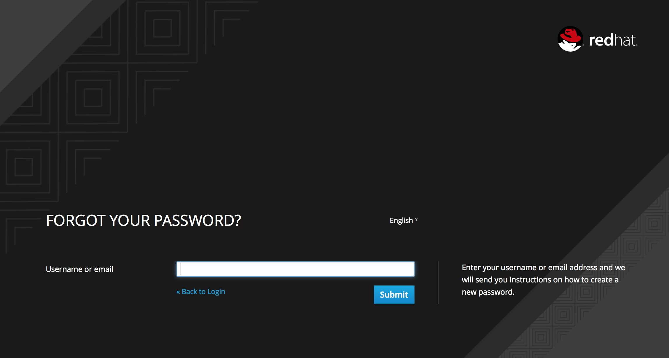 forgot password page