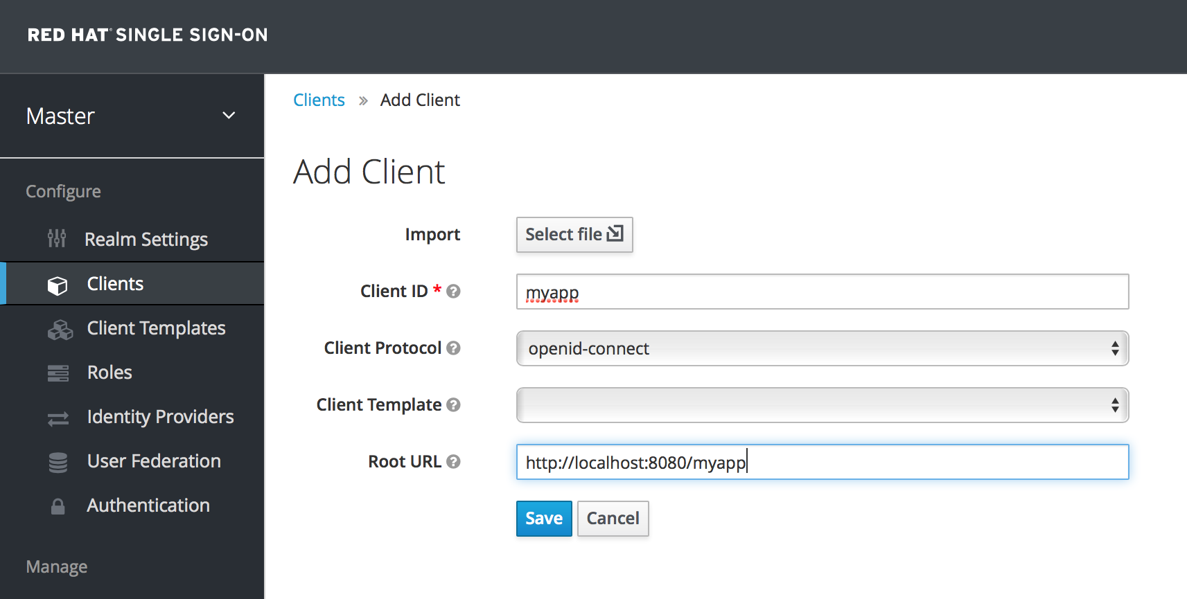 add client oidc