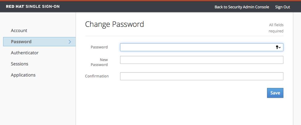account service password