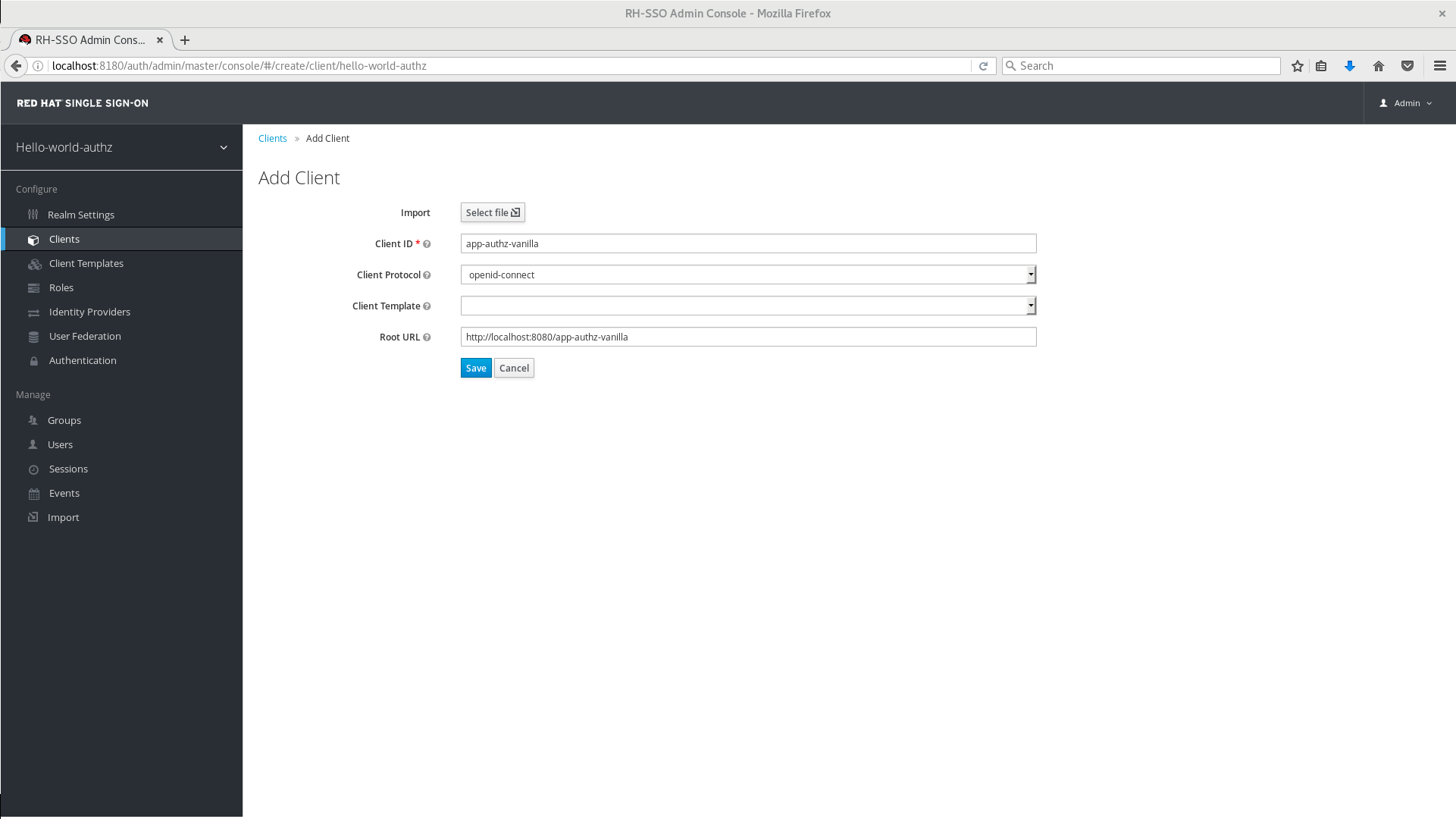Create Client Application