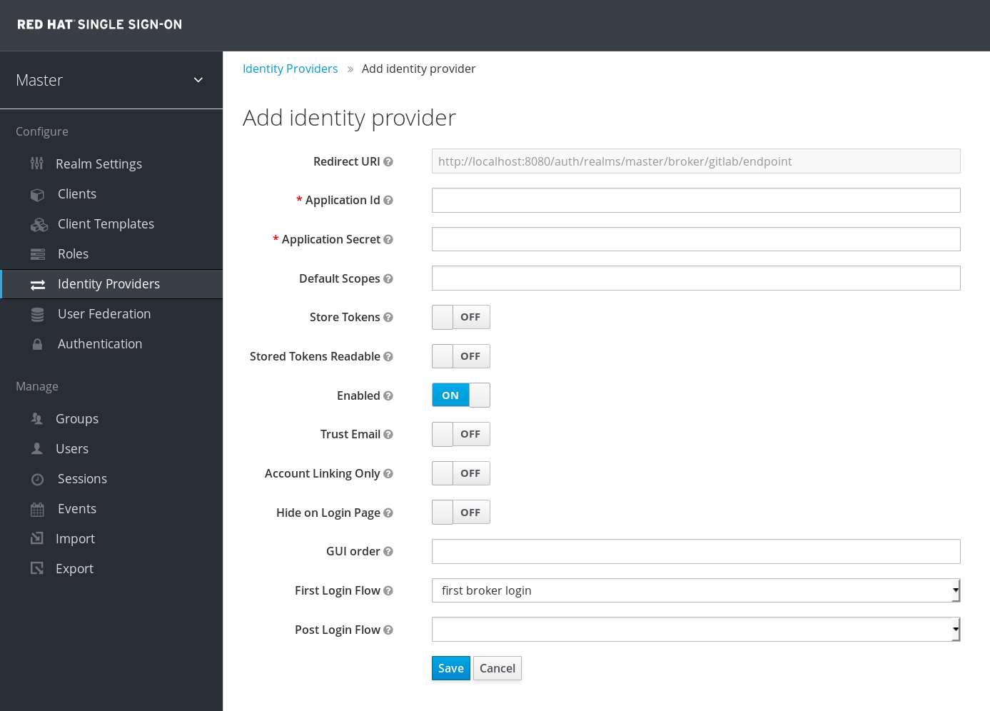 gitlab add identity provider