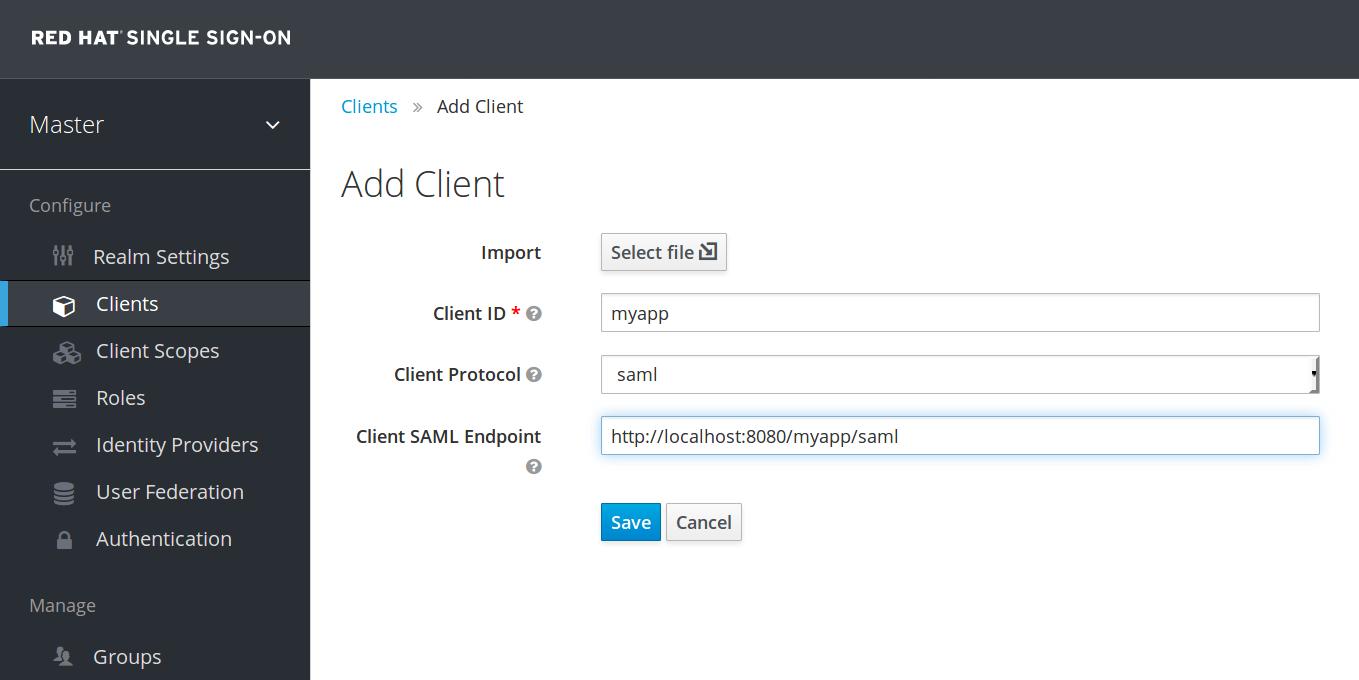 add client saml