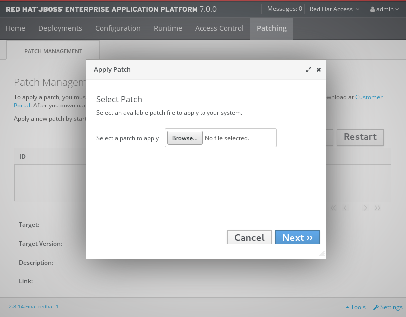 Apply Patch Screen