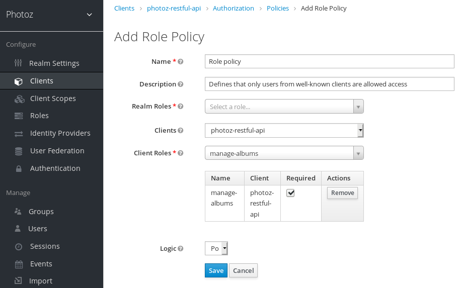 Add Role-Based Policy