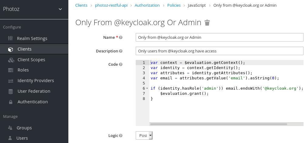 Add JavaScript Policy
