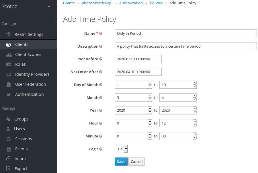 Add Time Policy