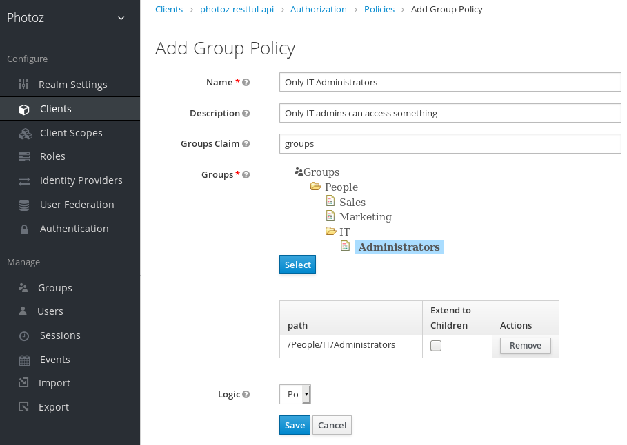 Add Group-Based Policy