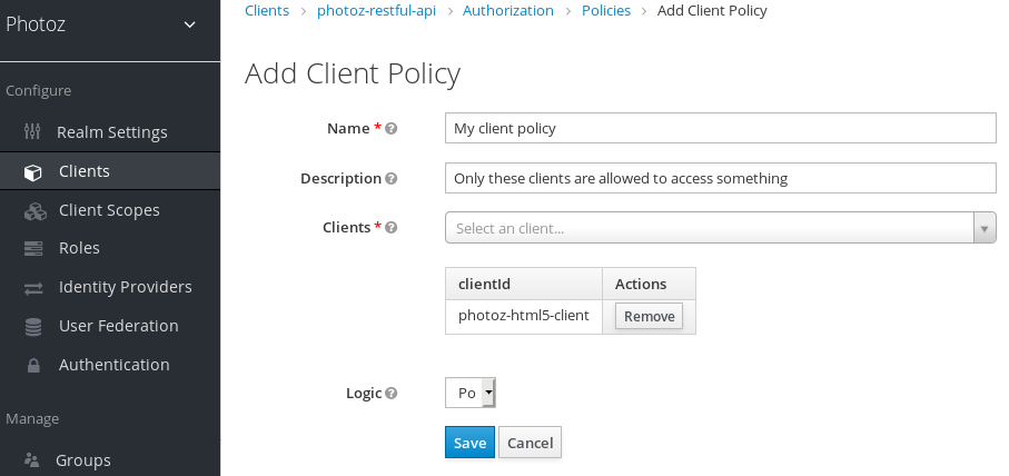 Add Client-Based Policy