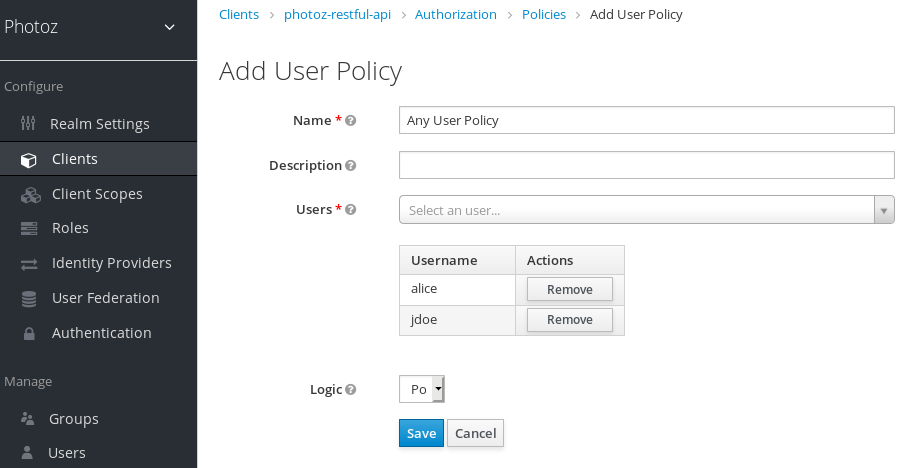 Add User-Based Policy