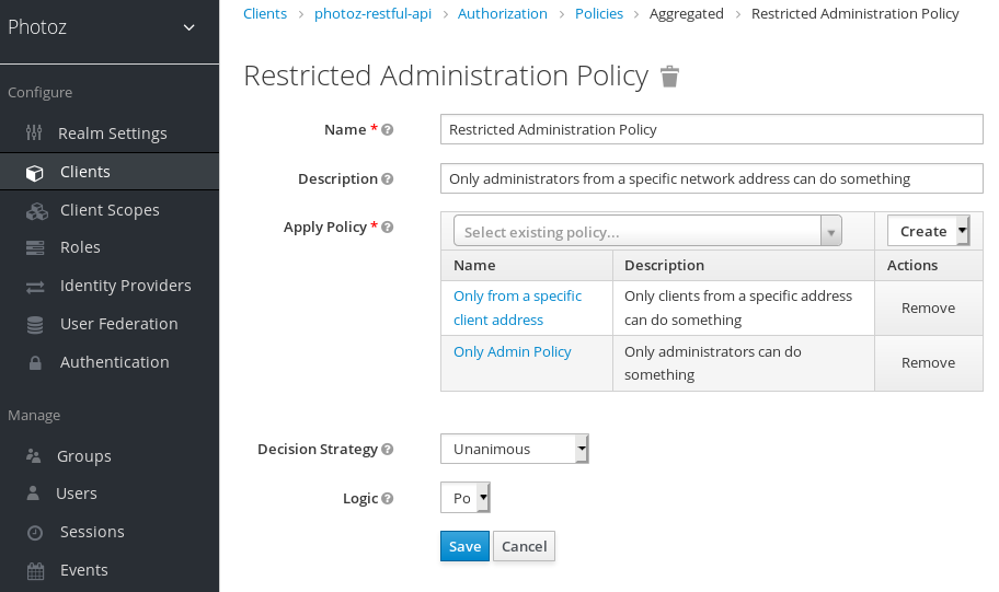 Add Aggregated Policy