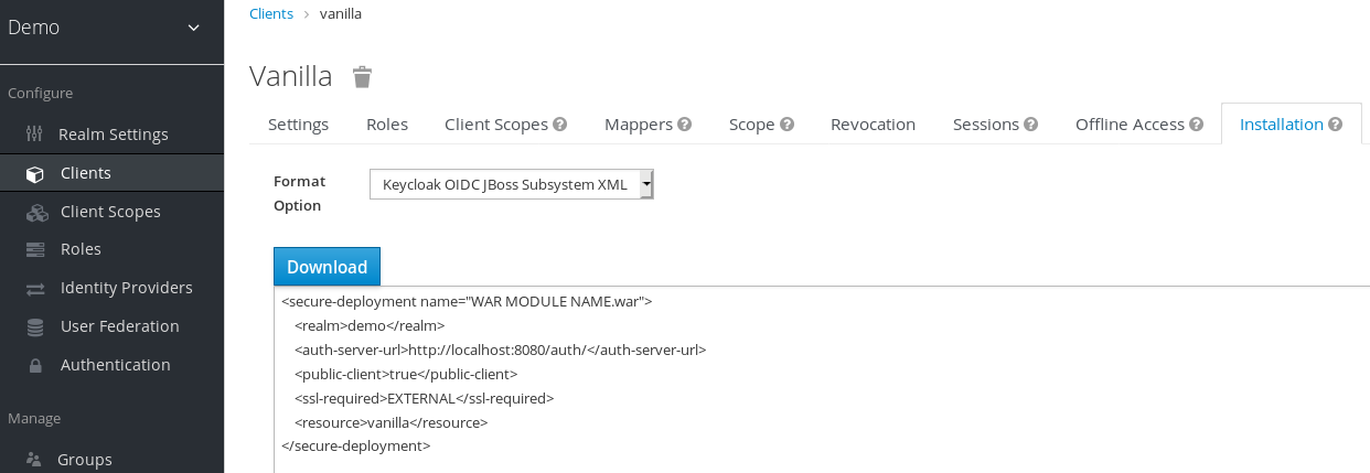 Template XML