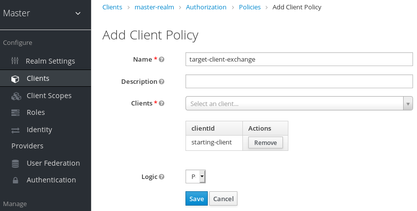 exchange target client policy
