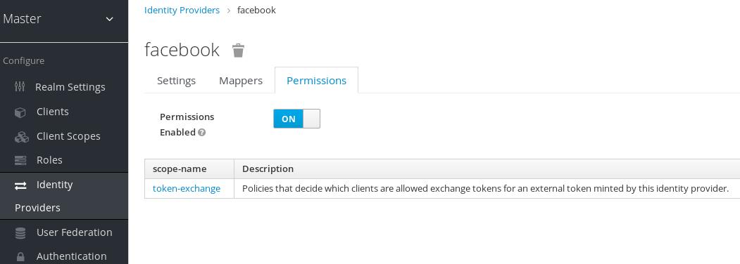 exchange idp permission set