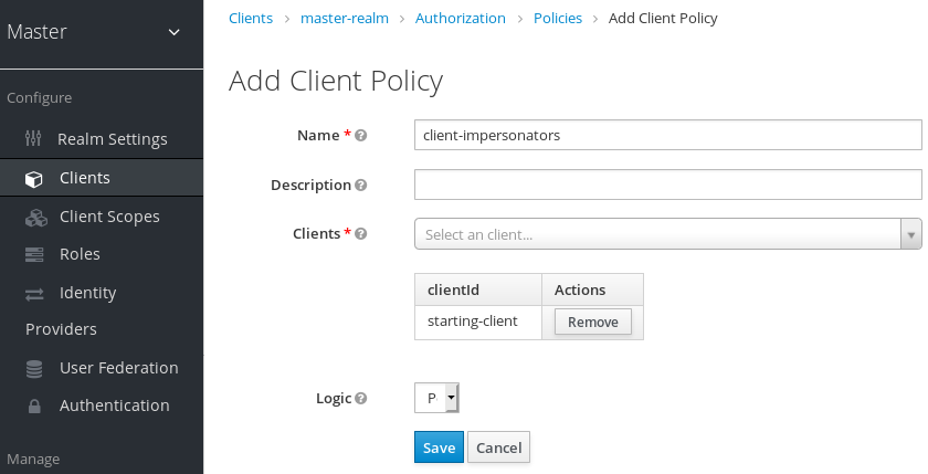 exchange users client policy