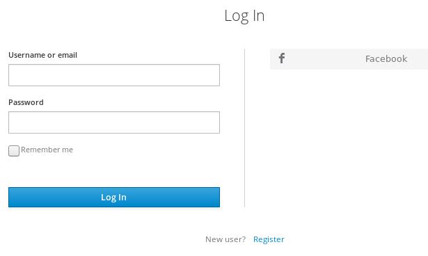 identity provider login page