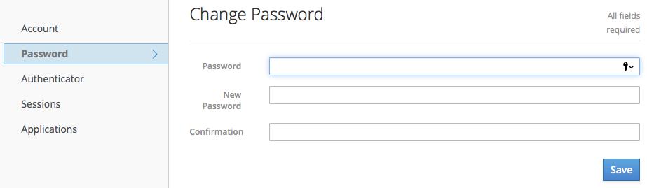 account service password