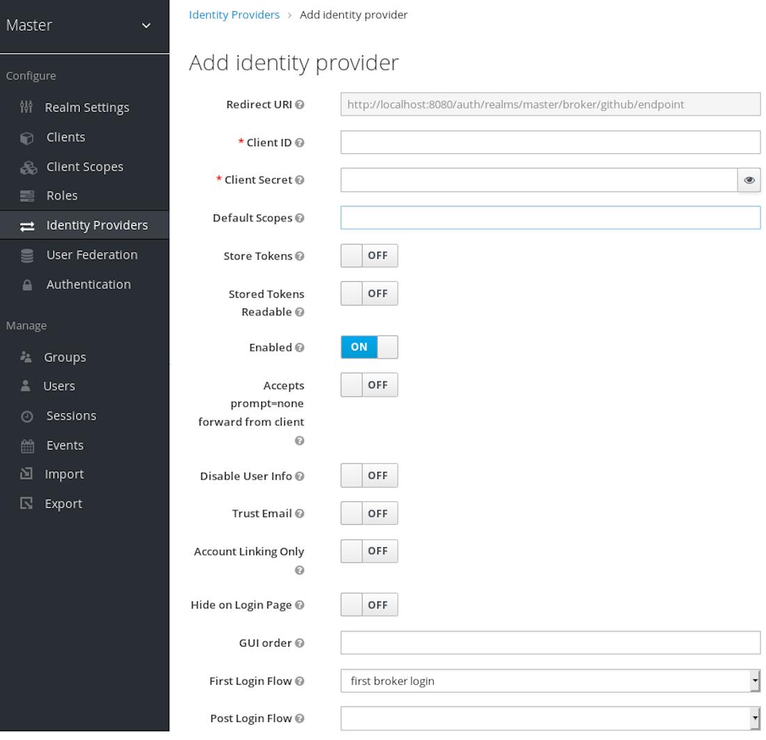 github add identity provider